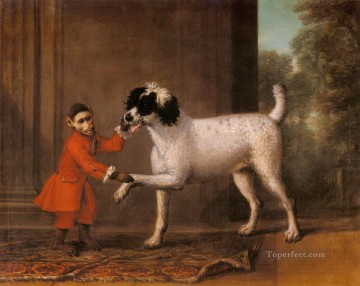 John Wootton A Favorite Poodle And Monkey Belonging To Thomas Osborn facetious humor pet Oil Paintings