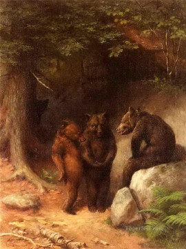 pets Painting - So You Wanna Get Married Eh William Holbrook Beard facetious humor pets