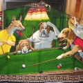 dogs playing pool 2 facetious humor pets