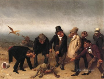 Discovery of Adam William Holbrook Beard facetious humor pets Oil Paintings