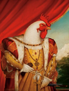 Animal Painting - chicken king