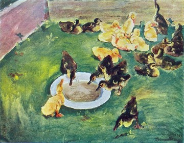 Animal Painting - ducklings 1934 Petr Petrovich Konchalovsky chicks
