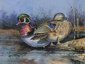 Animal Painting - mandarin duck
