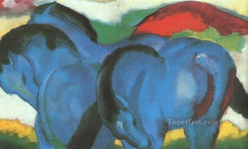 horse racing Painting - Little Blue Horses abstract Franz Marc German