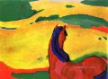 Marc horse in a landscape Expressionist Expressionism Franz Marc