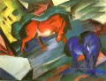 Red and Blue Horses Expressionist Expressionism Franz Marc