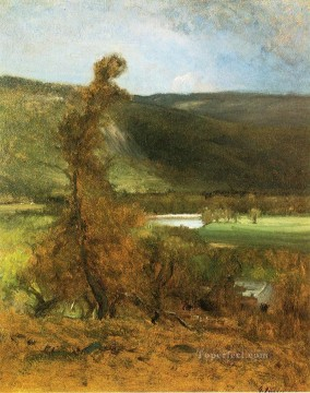 Animal Painting - North Conway White Horse Ledge landscape Tonalist George Inness
