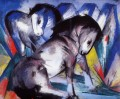 Two Horses abstract Franz Marc German