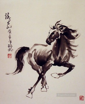 horse canvas - Chinese horse single
