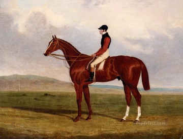 Horse Painting - Flexible Elis A Chestnut Racehorse With John Day Up John Frederick Herring Jr horse