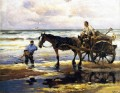 Mathias J Alten Digging Clams horses