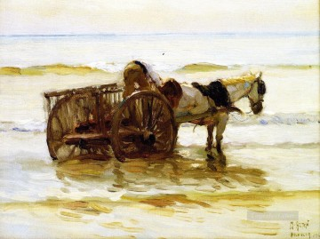Horse Painting - Mathias J Alten Horse Cart