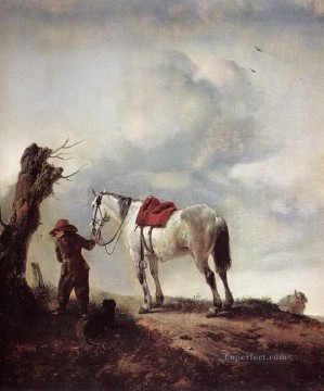 Animal Painting - Philips Wouwerman The White Horse