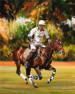 Animal Painting - Polo horse