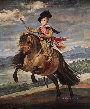 Prince Baltasar Carlos on Horseback portrait Diego Velazquez Oil Paintings