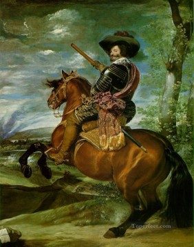 The Count Duke of Olivares on Horseback portrait Diego Velazquez Oil Paintings