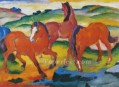 The Large Red Horses abstract Franz Marc