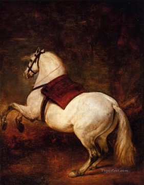 Horse Painting - The White Horse Diego Velozquez