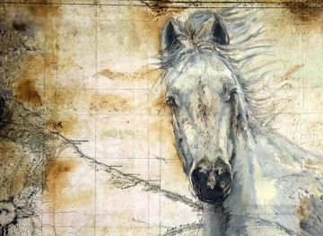 Whispers Across the Steppe horses رسم زيتي