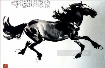 Animal Painting - Xu Beihong horse 2 old China ink