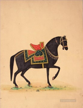 Animal Painting - black horse