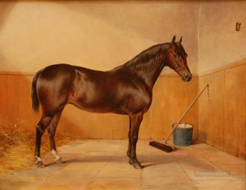Animal Painting - horse at barn