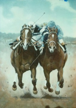 Animal Painting - horse race