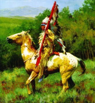 Animal Painting - kartiny indeycy severnoy ameriki horses