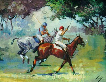Animal Painting - racehorse polo