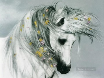 Horse Painting - am154D animal horse