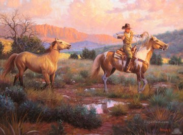 Animal Painting - American Indians 54 horses