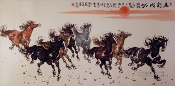 Chinese running horses Oil Paintings
