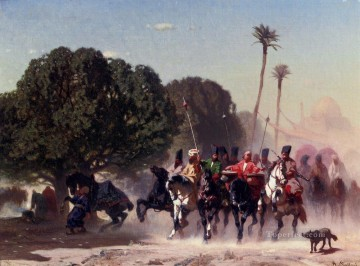 Animal Painting - The Horse Guard Arabian Alberto Pasini