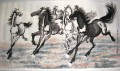 Xu Beihong running horses 2 old China ink
