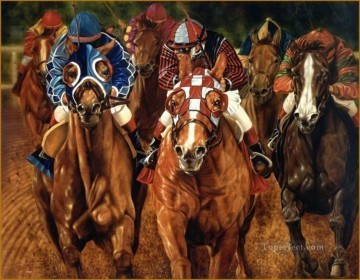 Horse Painting - horse race portrait