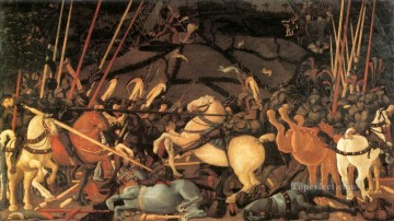 Paolo Canvas - Bernardino Della Ciarda Thrown Off His Horse early Renaissance Paolo Uccello