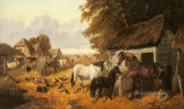 Bringing In The Hay John Frederick Herring Jr horse Oil Paintings