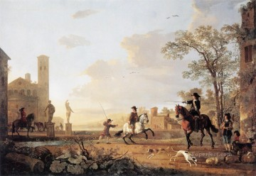 Animal Painting - Horse countryside painter Aelbert Cuyp