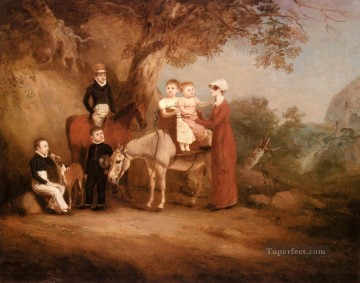 Ferneley Oil Painting - The Marriott Family horse John Ferneley Snr