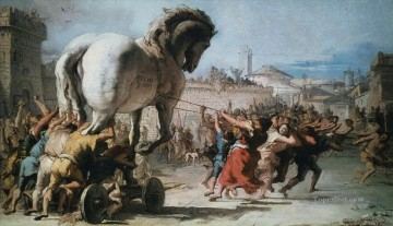 Horse Painting - The Procession of The Trojan Horse