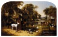 An English Farmyard Idyll John Frederick Herring Jr horse