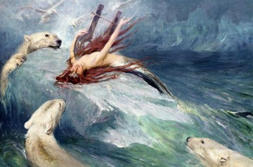 The Lure Of The North animal Arthur Wardle dog animal Oil Paintings
