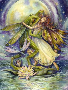frog water nymph theres always a reason to dance animal Oil Paintings