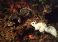 Squirrels known as The White Squirrel William Holbrook Beard animal