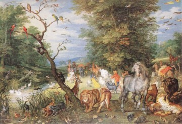 Animal Painting - The Animals Entering The Ark Flemish Jan Brueghel the Elder animal