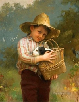 Happy Days Karl Witkowski pet kids Oil Paintings