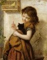 Her Favorite Pets Sophie Gengembre Anderson pet girl