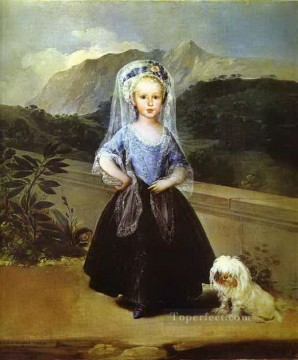 equestrian portrait of maria luisa of parma Painting - Portait of Maria Teresa de Borbon y Vallabriga Francisco de Goya pet kids
