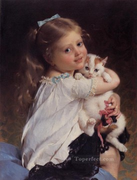 Animal Painting - her best friend Emile Munier pet kids