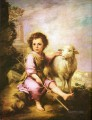 shepherd boy with lamb pet kids